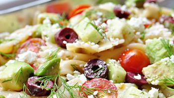 Recipes  bTomato Cucumber Pasta Salad with Avocadob